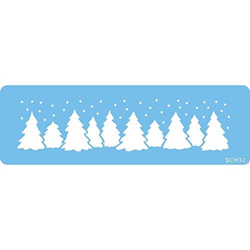 JEM Weihnachten Forest Schablone