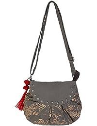 Pickpocket Grey Sling Bag With Studs