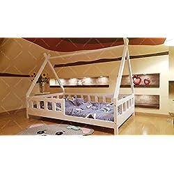 Oliveo Lit tipi pour Enfants avec tiroir, Une Place Artikelbild Mon lit Cabane, Lit pour Enfants (120 x 60 cm, Bois Naturel)