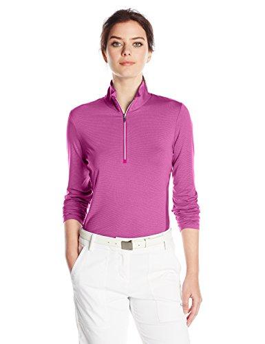 Cutter & Buck Madeline Damen Pullover, halber Reißverschluss - Pink - Mittel Madeline Cap