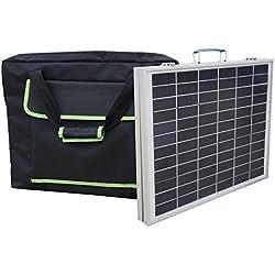 ECO-WORTHY 50W 12V Panel solar plegable policristalino portš¢til con el bolso Maleta solar al aire libre para el cargador de bateršªa de 12 voltios