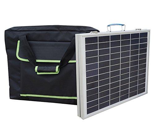 ECO-WORTHY 50W 12V Panel solar plegable policristalino port¨¢til con el bolso Maleta solar al aire libre para el cargador de bater¨ªa de 12 voltios
