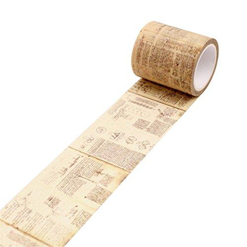 bismarckbeer Vintage papel Washi cinta adhesiva cinta DIY–Cuaderno de Recortes de vinilo talla única Leonardo Da Vinci Manuscript
