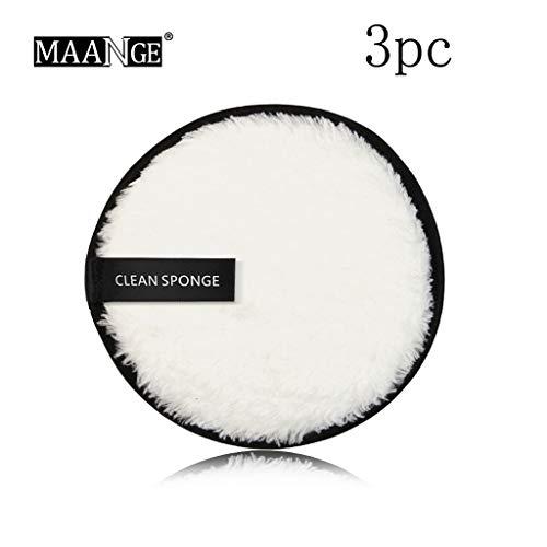 Makelloses Finish-creme (Cwemimifa Mehrfarbig Make-up Schwamm mit Transparent Reise Fall & Halter, MAANGE Makeup Remover Handtuch Gesichtsreinigungstuch Pads Plüsch Puff Fashion New FEA)