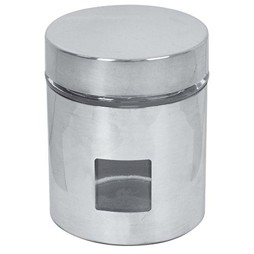 Equinox 505274 Boîte de Rangement Inox/Verre Hauteur 12,5 cm
