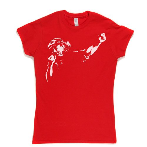 Brian Johnson Womens Fitted T-Shirt Rot