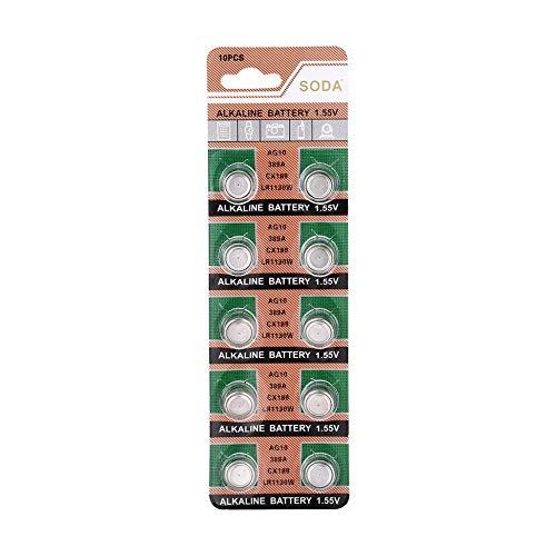 10 teile/paket AG10 LR1130 389A LR54 L1131 189 Alkalische 1,5 V Knopfzelle für Uhr Uhr Förderung - Taschenrechner Teilen