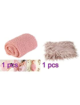 OULII 1pcs lange Welle wickeln, DIY neugeborenes Baby Fotografie Wrap-BAby Foto Requisiten begünstigt (Schnee...