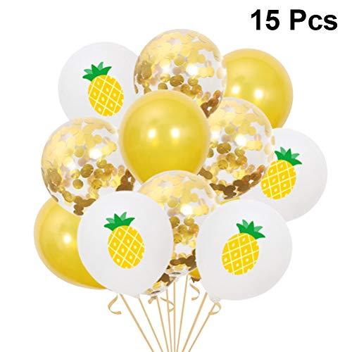 dem Motto Latex Luftballons 15 Stück Sommer Ananas Druck Luftballons Konfetti Luftballons Dekor Gastgeschenke für Hochzeit Geburtstagsparty ()