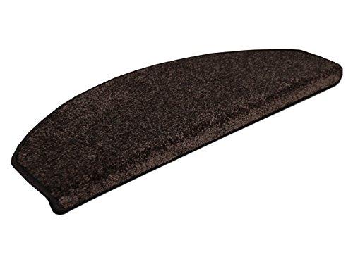 Edel Velours Stufenmatte Pearl Dunkelbraun (halbrund) einzeln oder im 15er Set