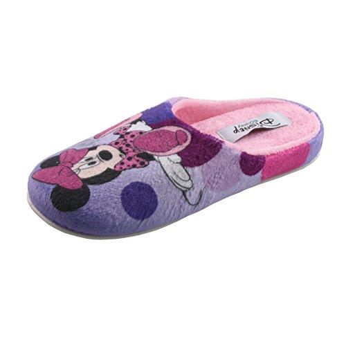 Tierhausschuhe Hausschuhe Disney Minnie Maus Pantoffel Minny Maus weich Schlappen hochwertig Original Damen Mädchen, TH-Minnie Slipper Multicolor