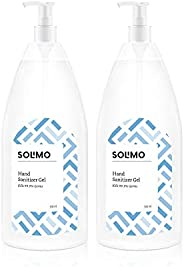 Amazon Brand - Solimo Hand Sanitizer Gel (72% Ethanol Absolute) - 500 ml (Pack of 2)