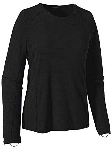 Patagonia Cap LW Crew T-Shirt, Femmes XL Noir