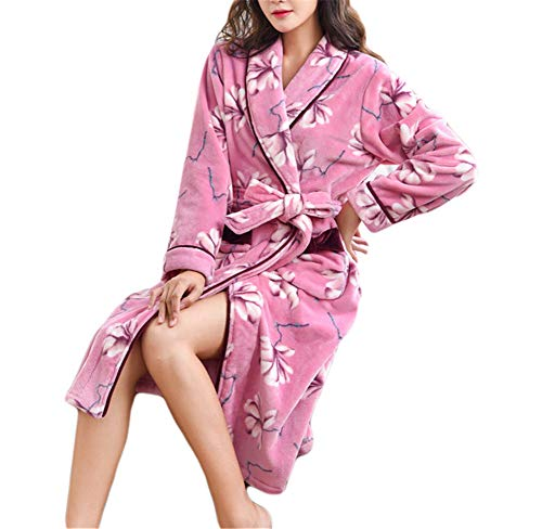 Cozy Robe (Kitrack Bademantel Frottier Flanell Roben Luxury Weiche Robe Cozy Fluffy FüR Frauen,XL)