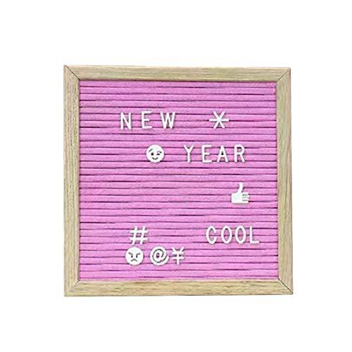 JoyFan Filz Brief Board 10 * 10 Zoll Holzrahmen DIY Message Board Küche Notizen Board mit 340 White & Gold Buchstaben Symbole Emojis für Haus, Restaurant, Party, Hochzeit