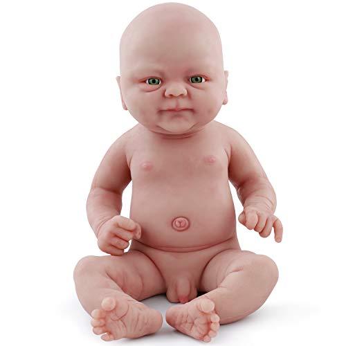 Vollence Poupée Reborn bébé réaliste 36 cm, sans PVC, Silicone Platine, Corps...
