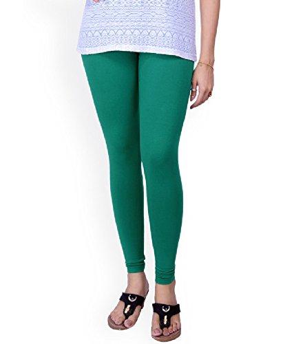 BONITO Women's Green Cotton Churidar Leggings