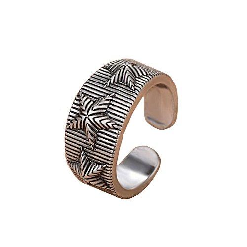 Meigold Edelstein Offener Ring Verstellbare Größe Damen Schmuck Thai Silber