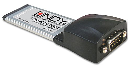 Lindy RS-232 Card - 1 Port, ExpressCard/34 interface cards/adapter - interface cards/adapters (ExpressCard/34, ExpressCard, Black, 33 mm, 116 mm, 19 mm, 0.9 Mbit/s)