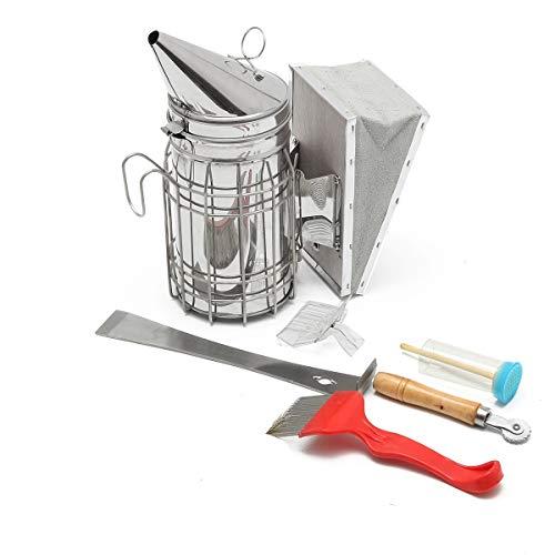 Janolia Bienenzuchtwerkzeug-Set, 7-in-1, Imkereizubehör, Imkerei-Werkzeug-Set für professionelle Einsteiger Imker