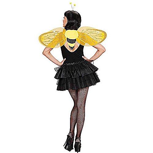 Biene Kostüm-Set gold-schwarz (Kostüm Ideen Flügel)