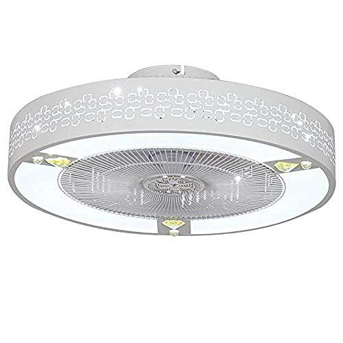 Ventilateurs de plafond avec lampe ventilateur lumière chambre lampe de plafond Moderne Simple chambre à double usage Plafond ventilateur de plafond Lumière Télécommande, Pour salon chambres @ B