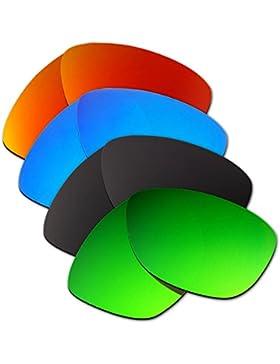 Hkuco Plus Mens Replacement Lenses For Oakley Jupiter Red/Blue/Black/Emerald Green Sunglasses