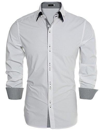 Burlady Herren Hemden Langarmhemd Regular fit Bügelleicht Bussiness Freitizeit Party Hochzeit