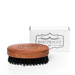 Bartpracht Bartbürste aus hochwertigem Hartholz und Wildschweinborsten, formt, reinigt und pflegt den Bart, 100% Naturprodukt, Made in Germany, 1 Stück
