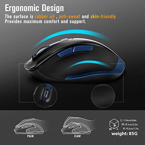 Zoom IMG-3 tedgem mouse wireless per laptop