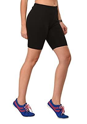 Frenchtrendz Women Cotton Spandex Cycling Shorts
