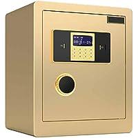 Caja fuerte cuadro de combinación de alta seguridad Caja de seguridad digital capacidades muy grandes para documentos de identidad guardar objetos de valor Gabinete caja fuerte para, documentos A4,Oro