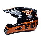 WZFC Crosshelm Motocross Enduro Downhill Fox Helm Motorradhelm Integralhelm,FOX3,XL