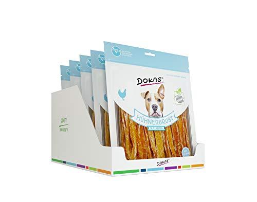 DOKAS Getreidefreier Premium Snack in Streifen für Hunde - Ideal für zwischendurch 5 x 500G