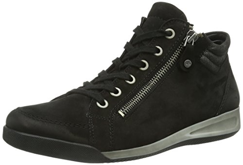 Ara Rom - Sneaker à col haut, femme Noir - Noir