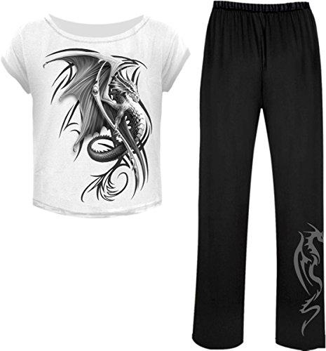 Spiral-Le donne-Viverna-4PC Set Pigiama gotico Black & White Small