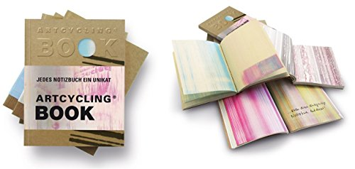 ARTCYCLING BOOK. Jedes Buch ein Unikat. ca. A5-Format: Die neue farbige Notizbuchgeneration aus 100 % Recycling Material Buch-Cover