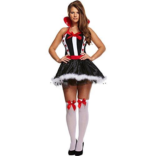 (Alice Im Wunderland Kostüm Damen Sexy Queen of Herzen Verkleidung Outfit EU 36-40)