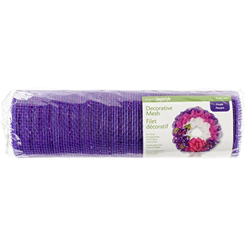 "Floracraft design it: Simplestyle decorativo in rete, White, 6"" x 10YD Purple"