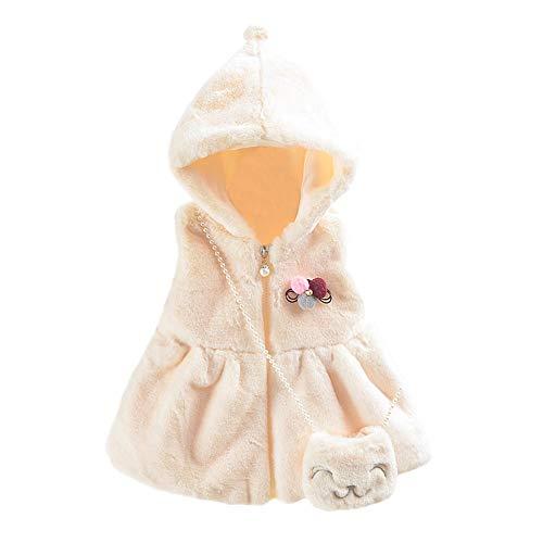 Baby Mädchen Ärmellos Weste Tops + Tasche Kapuze Winter Warme Kleider ()