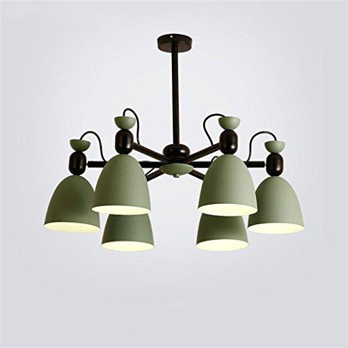 Prinzessin Drei-licht Kronleuchter (Uncle Sam LI- Olive schmiedeeisernen Kronleuchter, 3 Lights / 6 Lights, Nordic frische Kronleuchter für Arbeitszimmer Wohnzimmer Kinderzimmer ( Farbe : Olive , größe : 6. licht ))