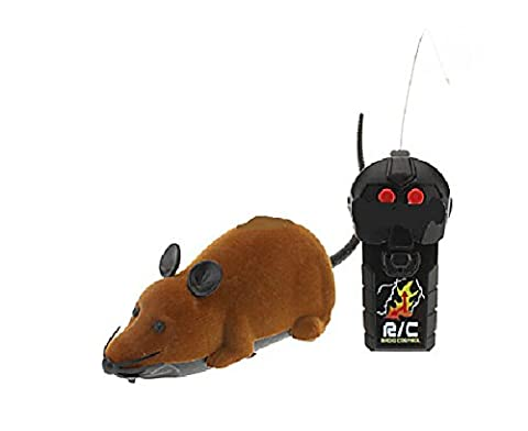 Remote Control Brown Rat Mouse Toy for Cat Kitten Dog Pet Novelty Gift by Hwydo