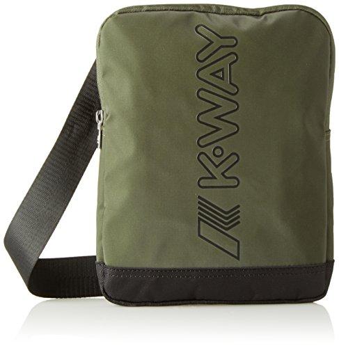 K-Way K-Teen, Borsa a Spalla Uomo, 2x25x19.5 cm (W x H x L) Verde (A95 Green Wood)
