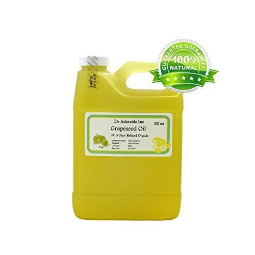 32 Oz / 1 Quart Organic Grapeseed Oil