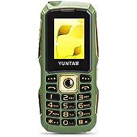 YUNTAB C12 Teléfonos móviles para personas mayores GSM 2G botón grande(verde)