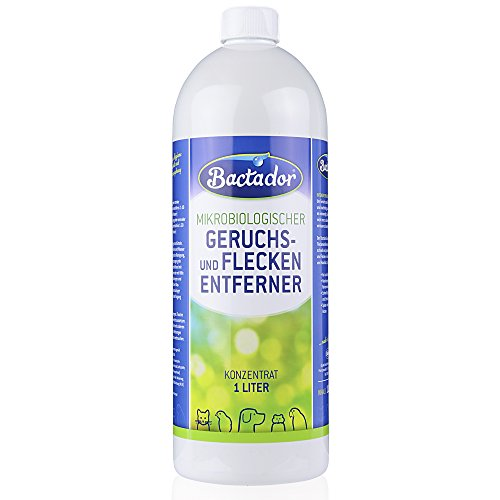 Bactador Konzentrat 1 Liter | Geruchsentferner und Fleckenentferner | Biologischer Reiniger