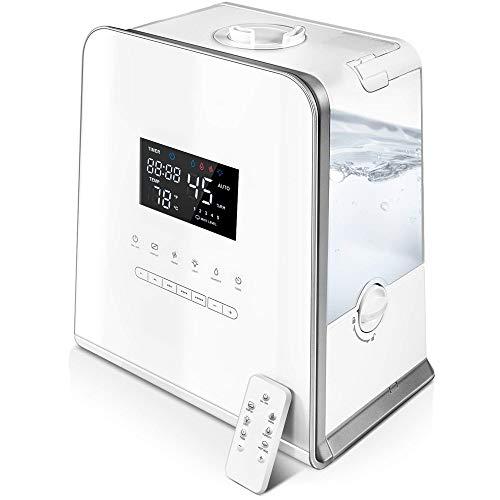 BQT Humidificador, humidificadores ultrasónicos para Dormitorio y bebés de Gran Capacidad 5.5 L Cool y Warm Mist, vaporizador con Control Remoto, Ajuste automático de Humedad