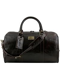 543b03cc44 Tuscany Leather - TL Voyager - Borsa da viaggio in pelle con tasca sul  retro -