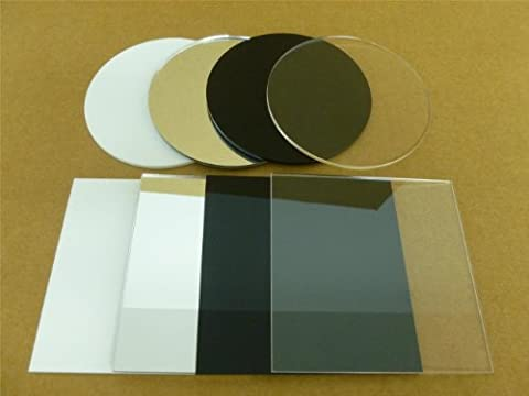 Classikool 3mm thick ROUND:BLACK Perspex Acrylic Discs 10mm-250mm Sizes Available (250mm (Pack of 1))