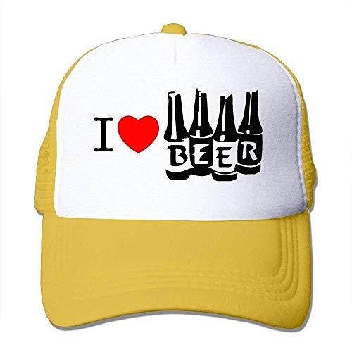 Hoswee Unisex Kappe/Baseballkappe, Men Women Mesh Back Core Baseball Cap I Love Beer Air Mesh Polyester Cap (Air Jordan Haus)